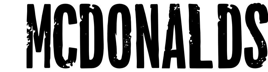 McDonalds font