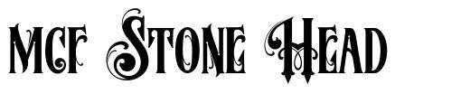 MCF Stone Head font