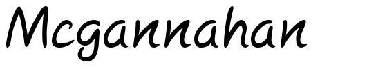 Mcgannahan font
