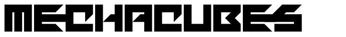 Mechacubes font