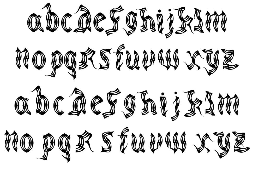 Medieval Party font