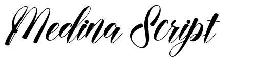 Medina Script font