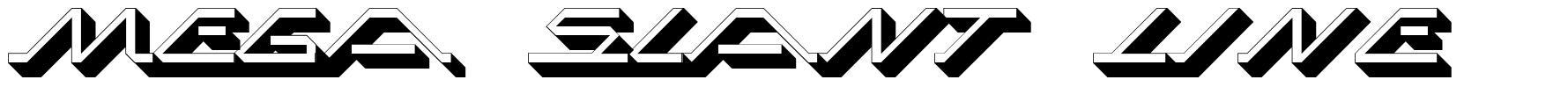 Mega Slant Line font