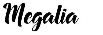 Megalia шрифт