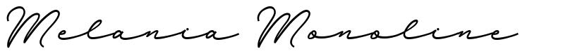 Melania Monoline font