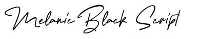 Melanic Black Script