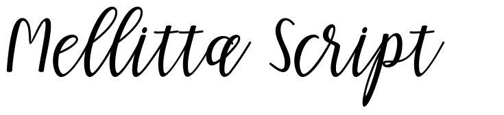 Mellitta Script फॉन्ट