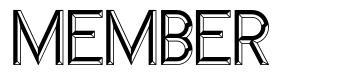 Member font