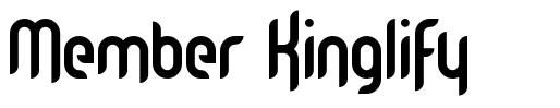 Member Kinglify フォント