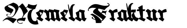 Memela Fraktur 字形