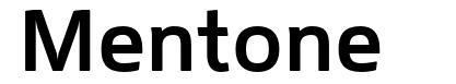 Mentone font