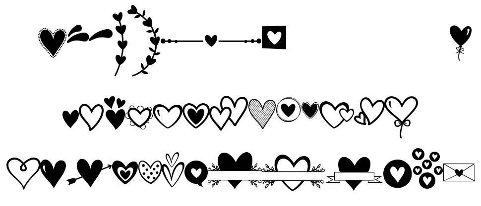 Merciful Heart Doodle font