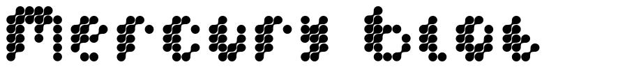Mercury Blob font