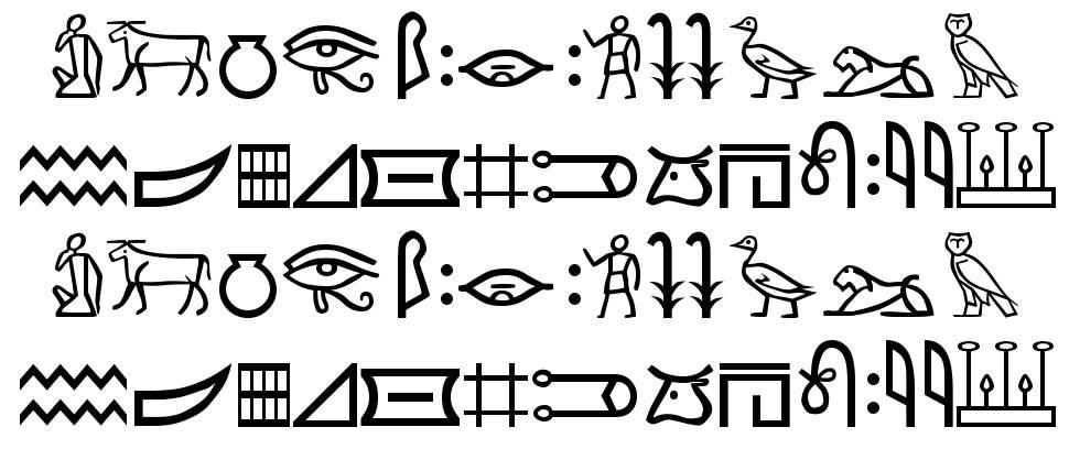 Meroitic Hieroglyphics 字形