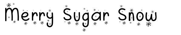 Merry Sugar Snow font