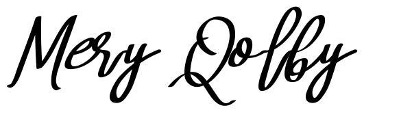 Mery Qolby font
