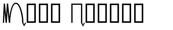Mesa Analog font