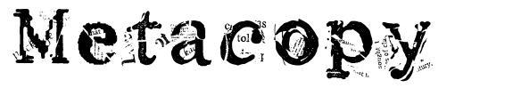 Metacopy font