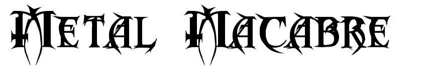 Metal  Macabre 字形