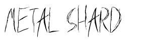 Metal Shard schriftart