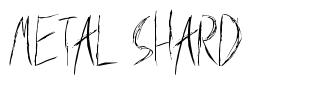 Metal Shard font