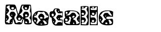 Metalic font