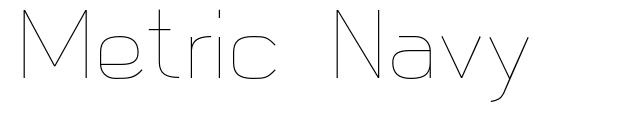 Metric Navy font