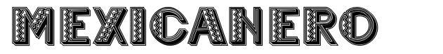 Mexicanero шрифт