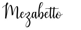 Mezabetto шрифт