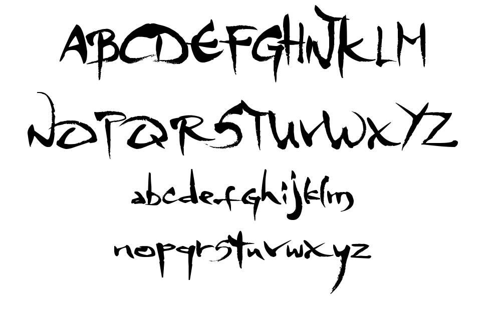 MGS 4 Brush font