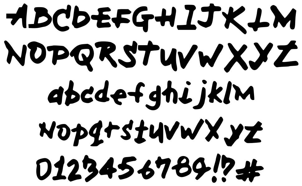 MH Font písmo