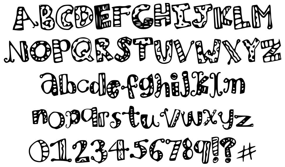 mhv zoo party font by maddie vo fontriver