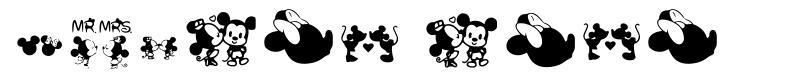 Mickey Love font