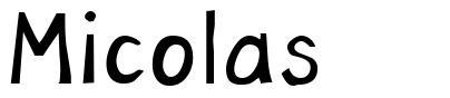 Micolas  font