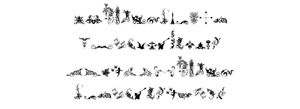 Micro Fleurons 字形