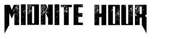 Midnite Hour font
