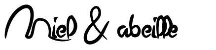 Miel & abeille шрифт
