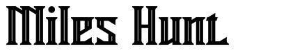 Miles Hunt フォント