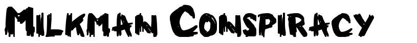 Milkman Conspiracy font