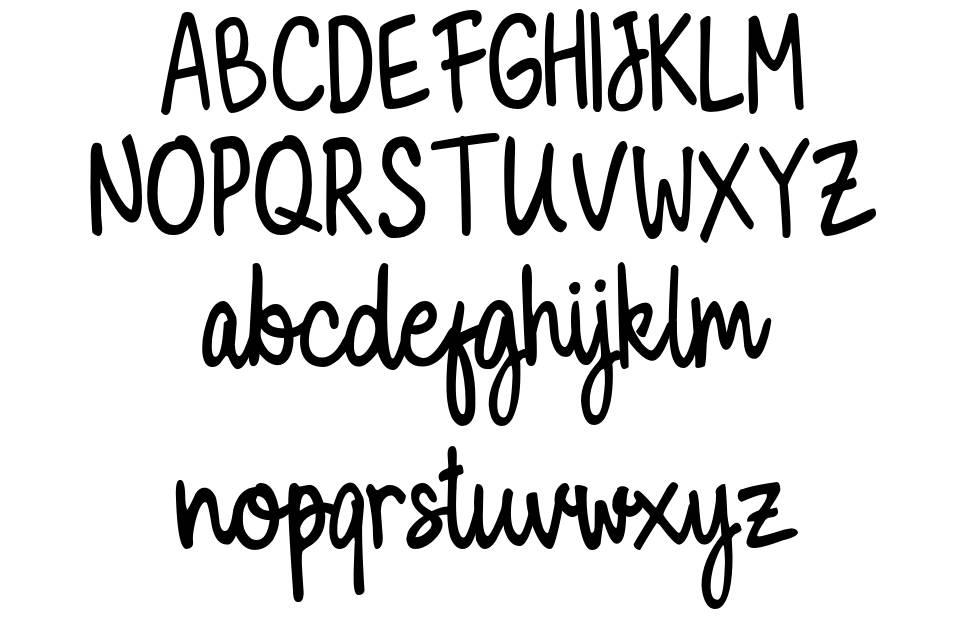 Milky Cookies Script font