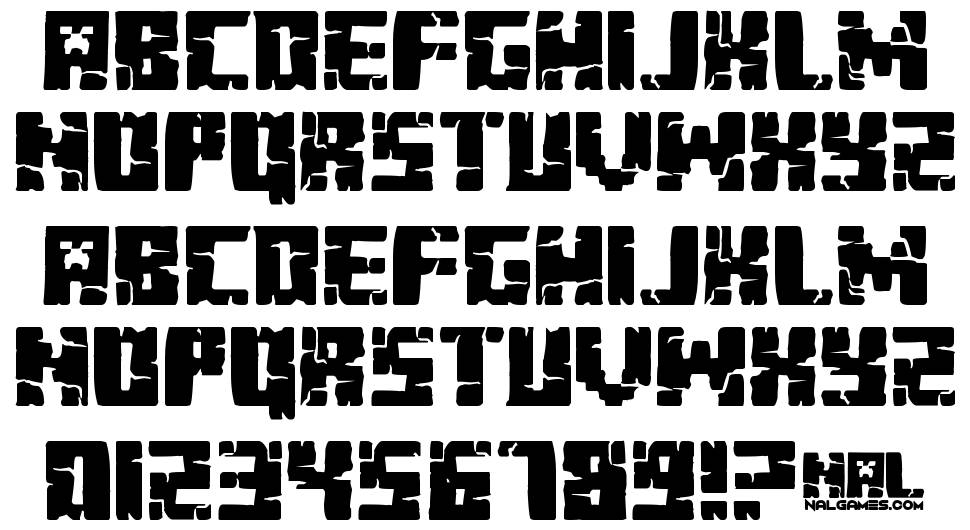 Minecraft Evenings font