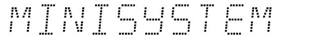 Minisystem font