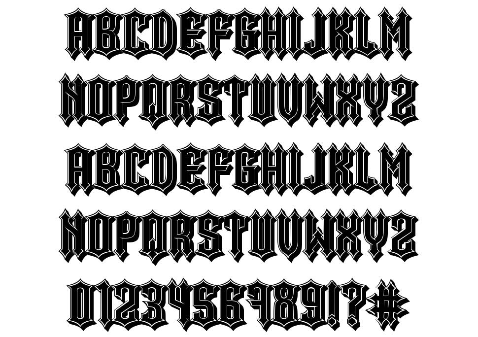 Minor Issues font