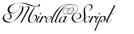 Mirella Script 字形