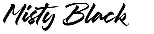 Misty Black font