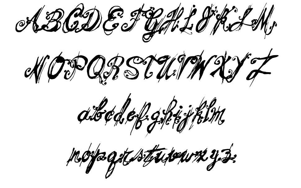 Mitsouskos schriftart