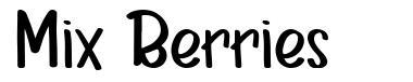 Mix Berries font