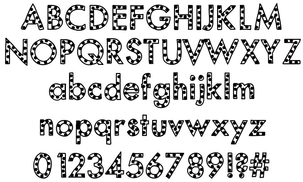 Mix Spotted font