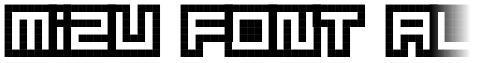 Mizu Font Alphabet