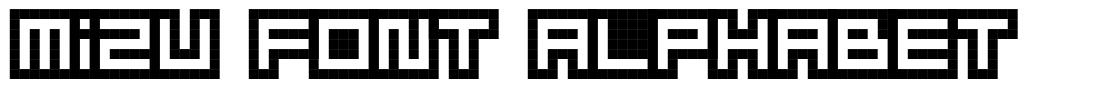 Mizu Font Alphabet font